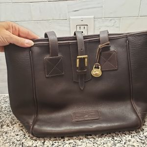 Vintage Dooney & Bourke Pebbled Leather Tote Bag